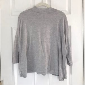 LOFT Gray Mock Turtleneck Long Sleeve Sweater